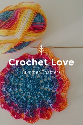 Crochet Love Summer Coasters