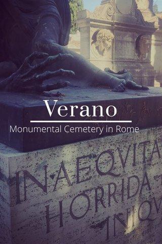 Verano Monumental Cemetery in Rome