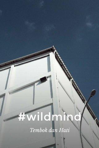 #wildmind Tembok dan Hati