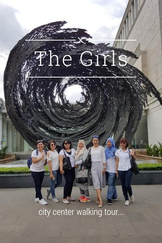 The Girls city center walking tour...