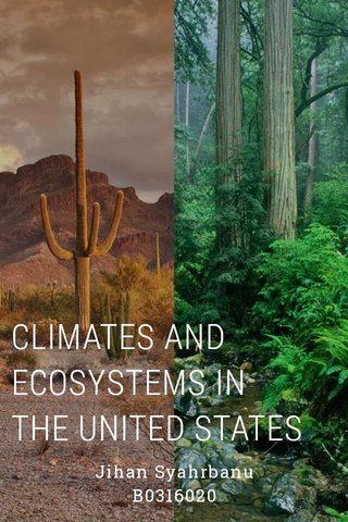 CLIMATES AND ECOSYSTEMS IN THE UNITED STATES Jihan Syahrbanu B0316020