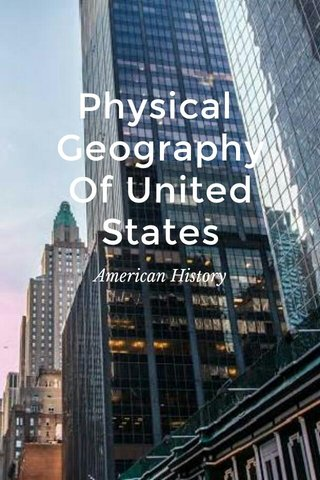 Physical Geography Of United States American History