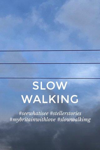 SLOW WALKING #seewhatisee #stellerstories #mybritainwithlove #slowwalkimg