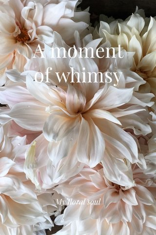 A moment of whimsy My floral soul