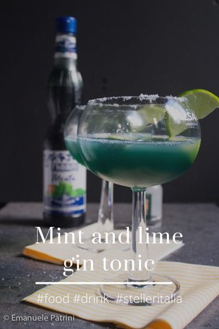 Mint and lime gin tonic #food #drink #stelleritalia