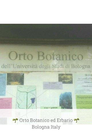 🌱 Orto Botanico ed Erbario 🌱 Bologna Italy