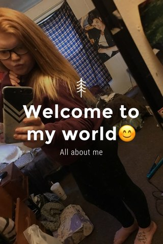 Welcome to my world😊 All about me