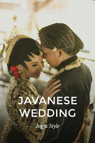 JAVANESE WEDDING Jogja Style