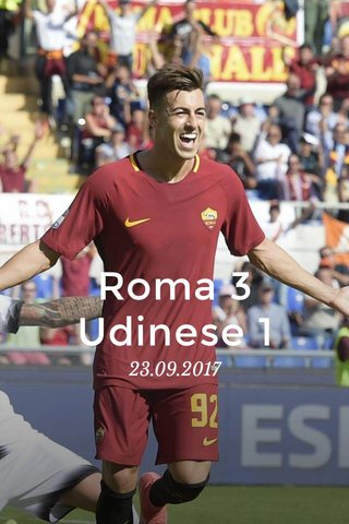 Roma 3 Udinese 1 23.09.2017