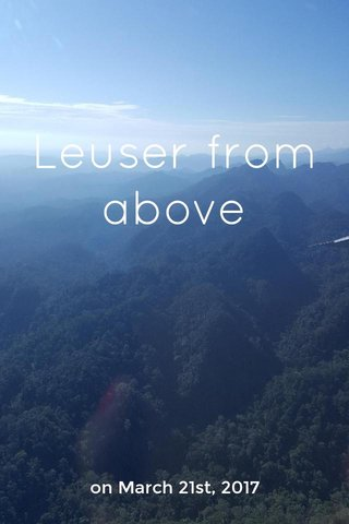 Leuser from above on March 21st, 2017