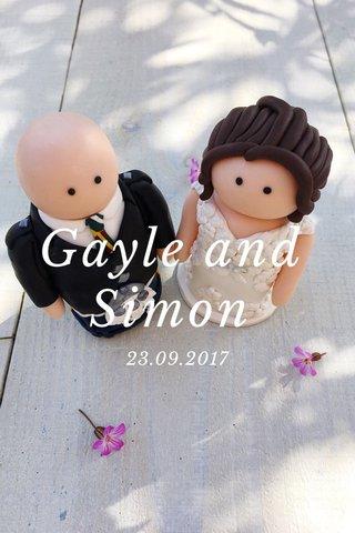 Gayle and Simon 23.09.2017