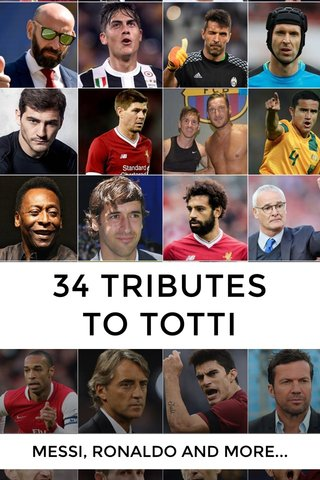 34 TRIBUTES TO TOTTI MESSI, RONALDO AND MORE...