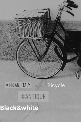 Black&white Bicycle
