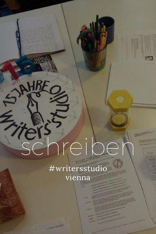 schreiben #writersstudio vienna