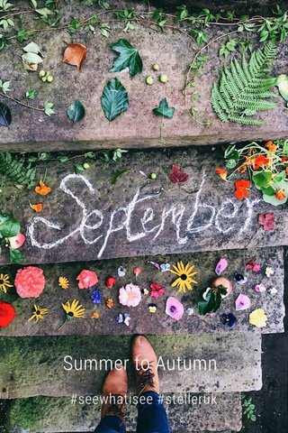 Summer to Autumn #seewhatisee #stelleruk