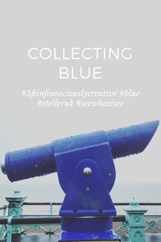 COLLECTING BLUE #5ftinfconsciouslycreative #blue #stelleruk #seewhatisee