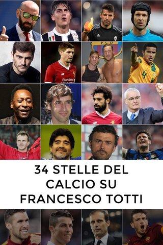 34 STELLE DEL CALCIO SU FRANCESCO TOTTI