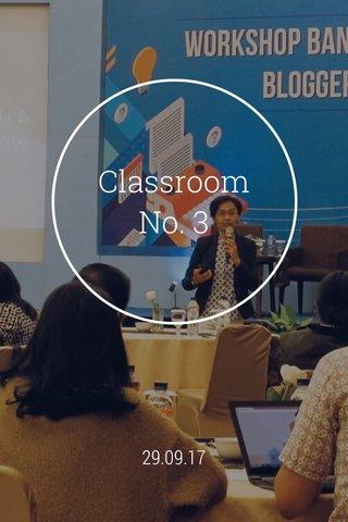 Classroom No. 3 29.09.17