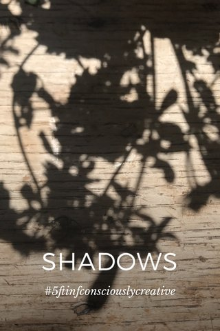 SHADOWS #5ftinfconsciouslycreative
