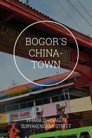 BOGOR'S CHINA-TOWN VIHARA DHANAGUN SURYAKENCANA STREET