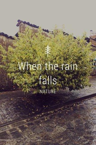 When the rain falls NATURE