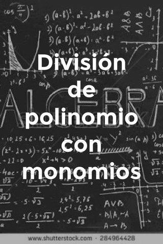 División de polinomio con monomios