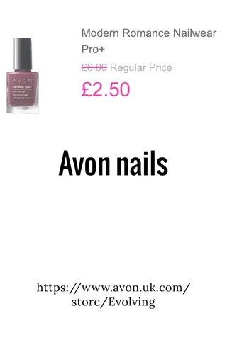 Avon nails https://www.avon.uk.com/store/Evolving
