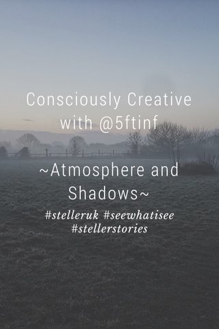 Consciously Creative with @5ftinf ~Atmosphere and Shadows~ #stelleruk #seewhatisee #stellerstories