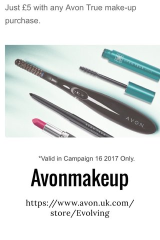 Avonmakeup https://www.avon.uk.com/store/Evolving