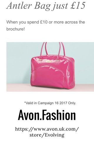 Avon.Fashion https://www.avon.uk.com/store/Evolving