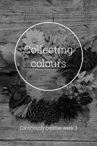 Collecting colours Consciously creative week 3