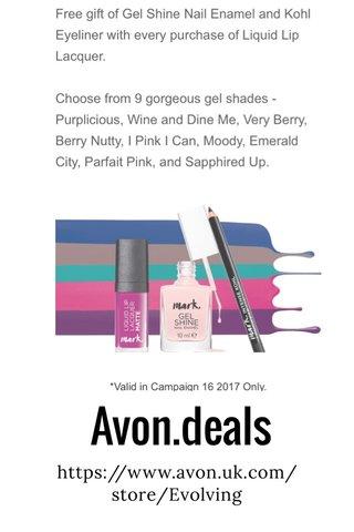 Avon.deals https://www.avon.uk.com/store/Evolving