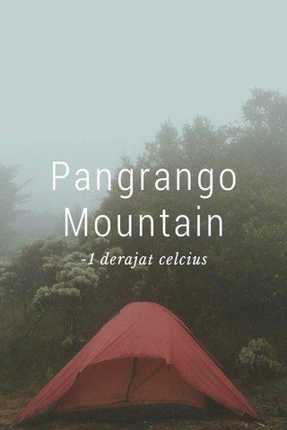 Pangrango Mountain -1 derajat celcius