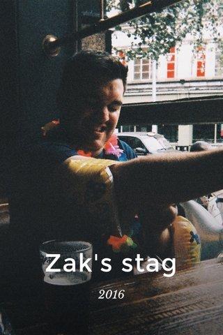 Zak's stag 2016