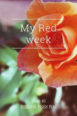 My Red week Week 40 #myweek #color #red