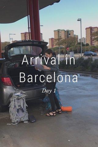 Arrival in Barcelona Day 1