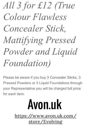 Avon.uk https://www.avon.uk.com/store/Evolving