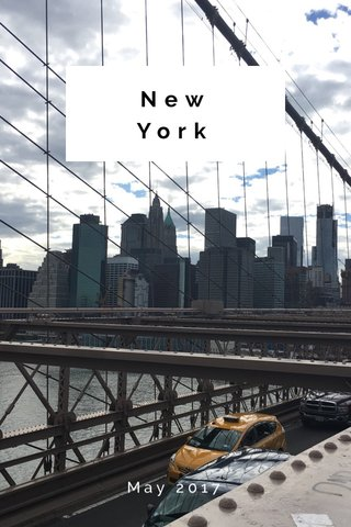 New York May 2017