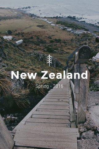 New Zealand Spring - 2016
