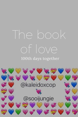 The book of love 100th days together