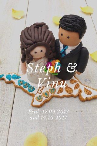 Steph & Vinu Estd. 17.09.2017 and 14.10.2017