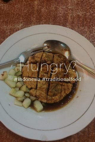 Hungry? #indonesia #traditionalfood