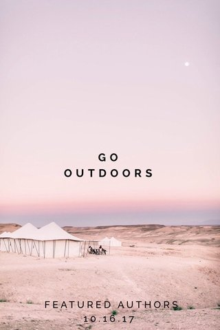 GO OUTDOORS FEATURED AUTHORS 10.16.17