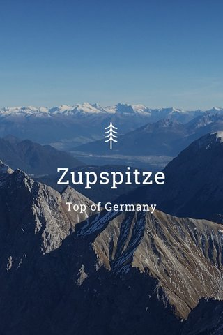 Zupspitze Top of Germany