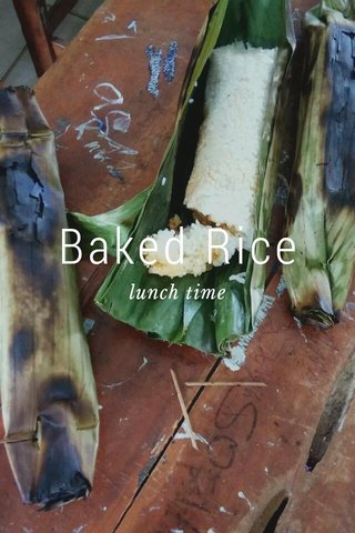 Baked Rice lunch time