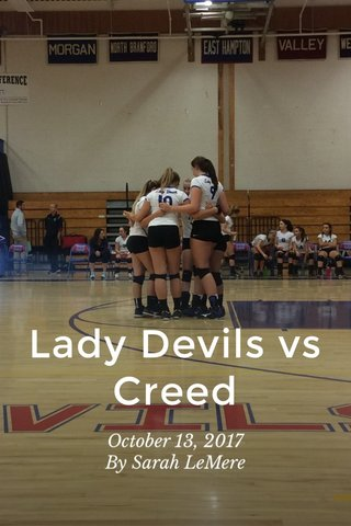 Lady Devils vs Creed October 13, 2017 By Sarah LeMere