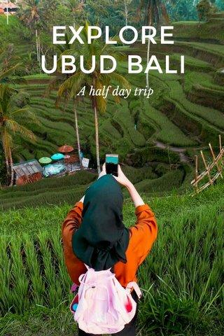 EXPLORE UBUD BALI A half day trip
