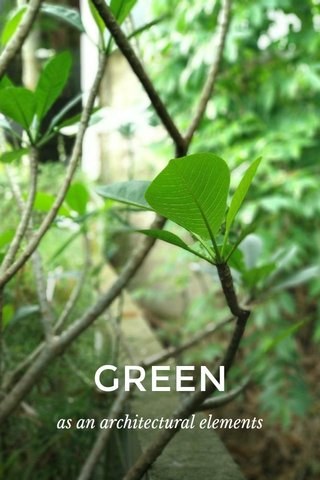 GREEN as an architectural elements