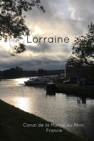 Lorraine Canal de la Marne au Rhin, France