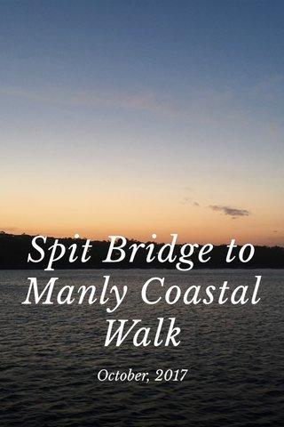 Spit Bridge to Manly Coastal Walk October, 2017